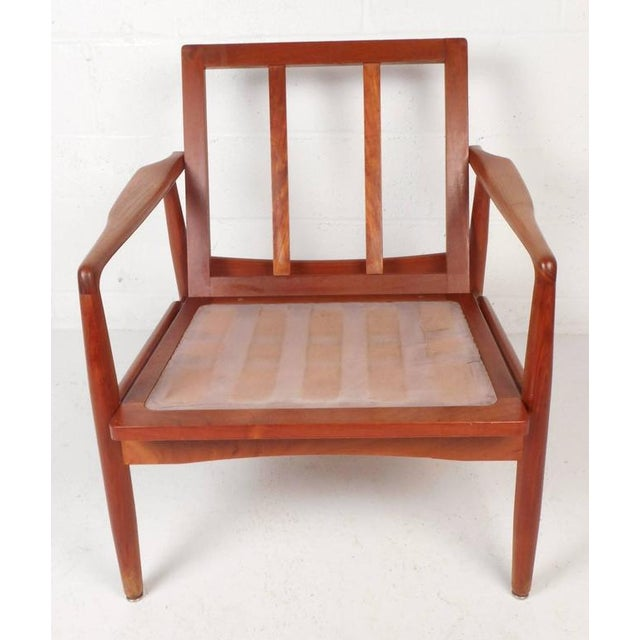Mid-Century Modern Danish Teak Lounge Chairs - a Pair - Image 7 of 9