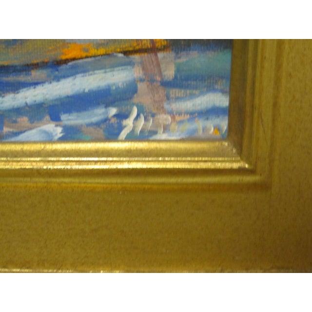 2000s Juan Guzman Newport Beach Balboa Island Boats Painting For Sale - Image 5 of 5