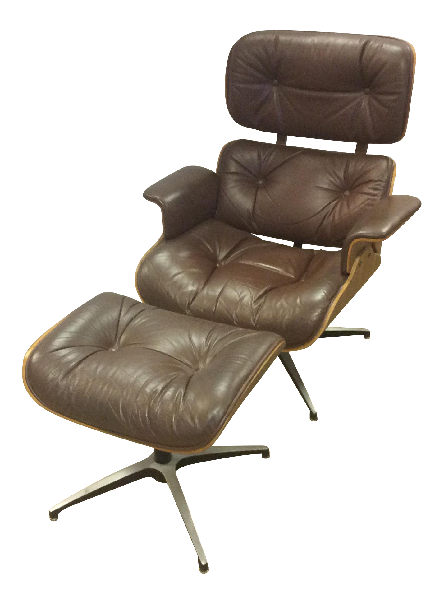 Delicieux Vintage Eames Style Chair U0026 Ottoman