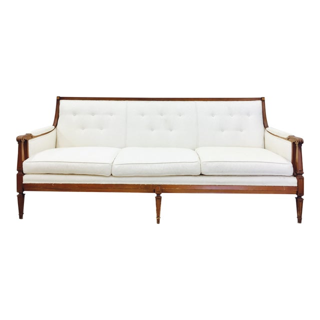 Vintage Mid-Century Tufted Button Back Sofa - Image 1 of 7