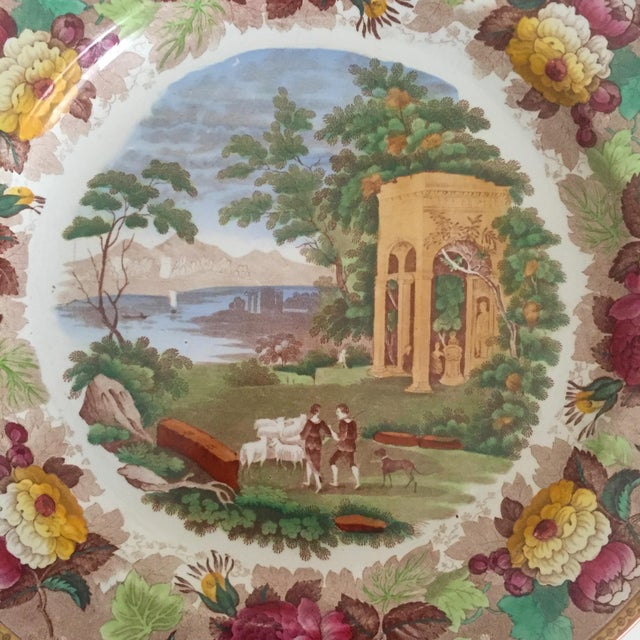 Antique Wedgwood Transferware Neoclassical Floral Ceramic Plate For Sale - Image 5 of 11