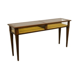 20th Century Traditional Brandt Furniture Diplomat Solid Cherry Display Sofa Table For Sale