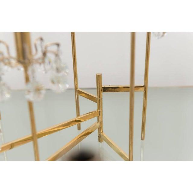 J. & L. Lobmeyr Brass and Swarovski Crystal Candlesticks - 15 Piece For Sale - Image 10 of 11