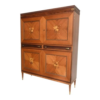 Italian Inlaid Bar by La Permanente Mobili Cantu For Sale