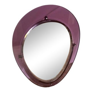 Mid-Century Modern Oval Shaped Mirror For Sale