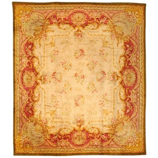 Antique European Savonnerie Carpet For Sale