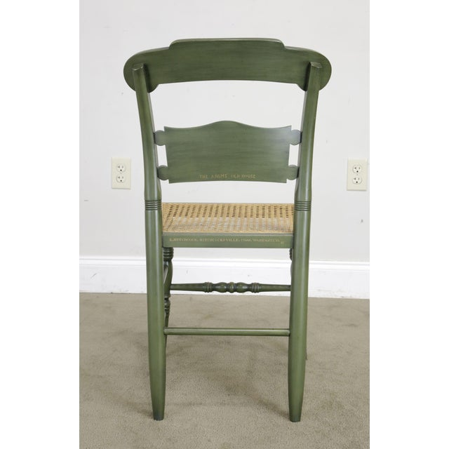 """Wood Hitchcock """"The Adam's Old House"""" Green Painted Side Chair For Sale - Image 7 of 13"""