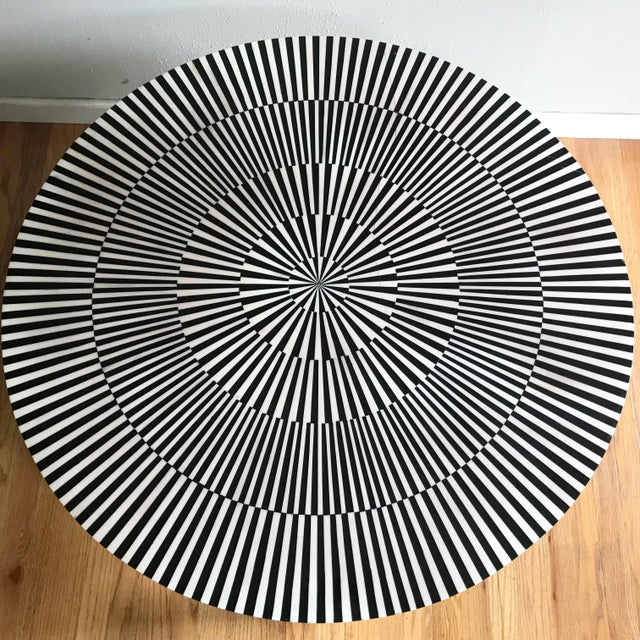 "Made Goods Made Goods ""Carlatta"" Coffee Table Tessellated Black and White Resin For Sale - Image 4 of 11"