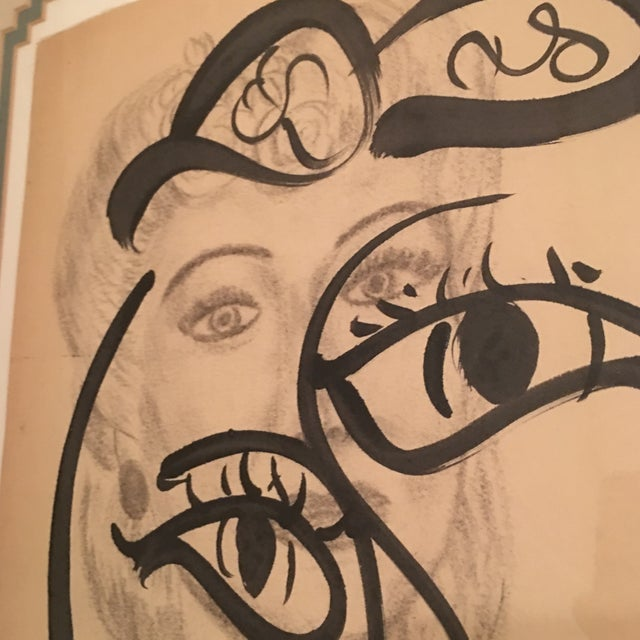 1960s Peter Keil Early Mixed Media Drawing Painting For Sale - Image 5 of 12