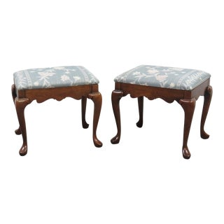 Pennsylvania House Cherry Queen Anne Footstools - A Pair For Sale