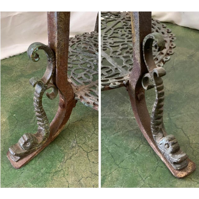Ornate Indoor Fountain With Heavy Iron and Bronze Base For Sale - Image 11 of 12