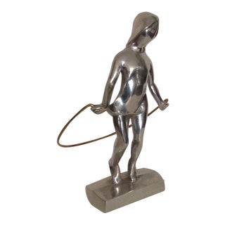 1970s Vintage Christian Petersen Aluminum Sculpture Signed For Sale