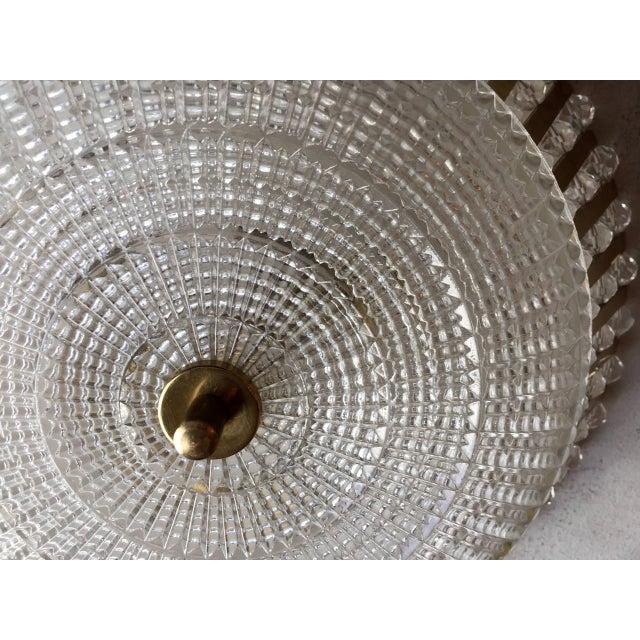 Emil Stejnar 1950s Stejnar Austrian Crystal Flush Light Pendant For Sale - Image 4 of 11