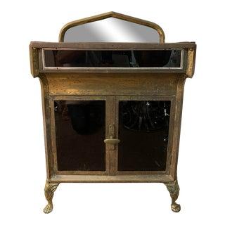 Vintage Industrial Mixed-Metal Medical/Dental Cabinet For Sale