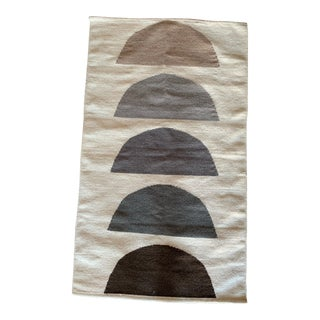 Contemporary Neutral Rainbow Rug - 2′6″ × 4′ For Sale