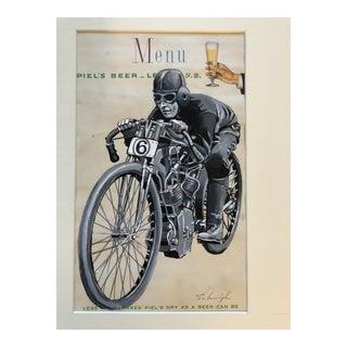 "Original Stephen Heigh Illustration Painting ""Wood Track Racer"" For Sale"