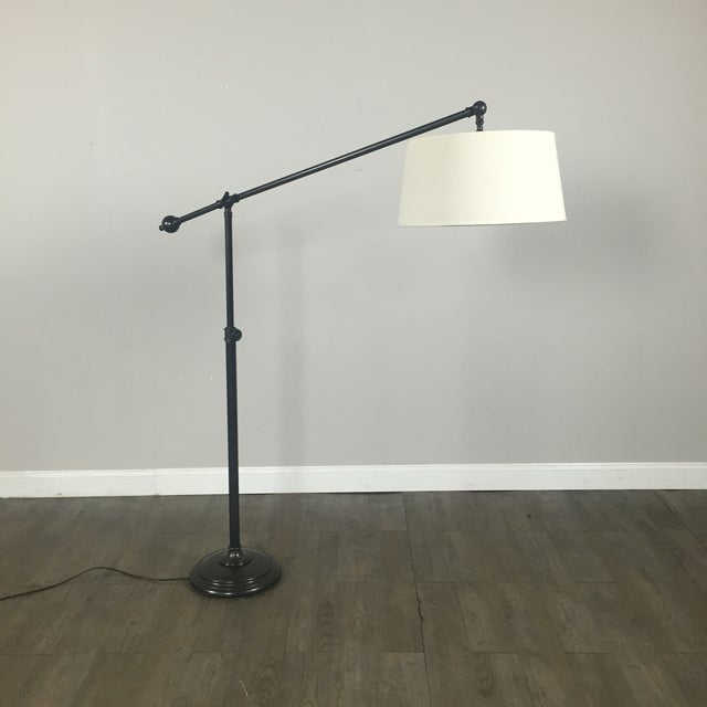 Pottery Barn Polished Brass Floor Lamp - Image 2 of 8