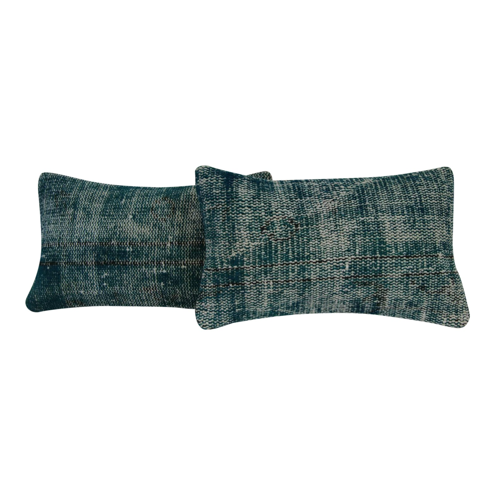 Green Vintage Handmade Overdyed Pillow Cover Pair Chairish