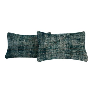Green Vintage Handmade Overdyed Pillow Cover - Pair
