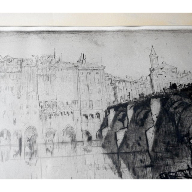 English 1926 Frank Brangwyn Etching Albi France For Sale - Image 3 of 5