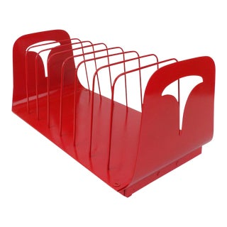 Industrial Red Desk Organizer