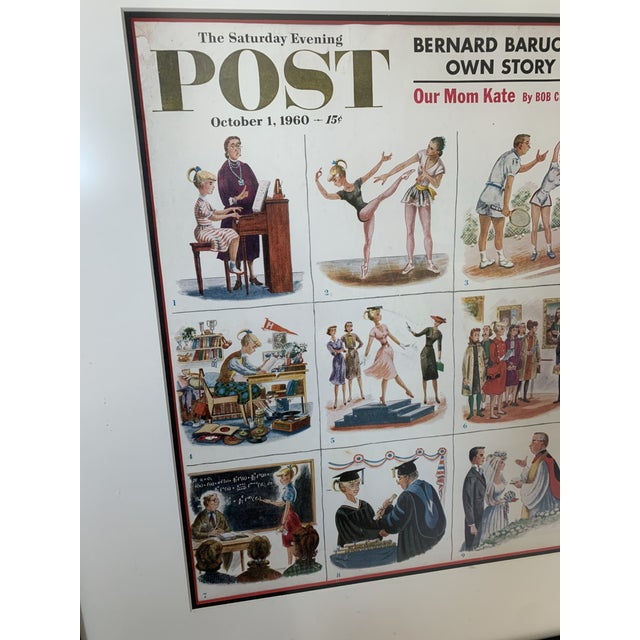 Norman Rockwell Framed 1960 Saturday Evening Post Illustration For Sale - Image 4 of 13