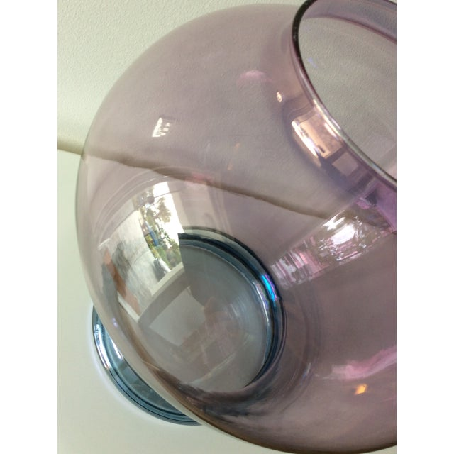 Late 20th Century Luminescent Glass Vase For Sale - Image 5 of 12