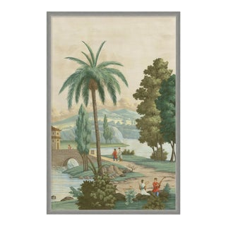 China Palm by Paul Montgomery in Silver Frame, Medium Art Print For Sale