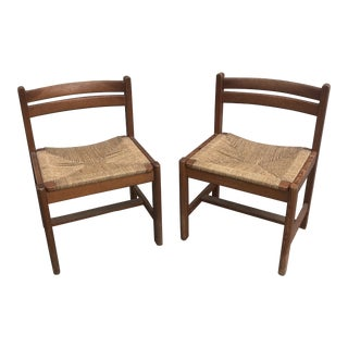 Mid Century Swedish Asserbo Chairs by Borge Mogensen for Karl Andreson a Pair For Sale