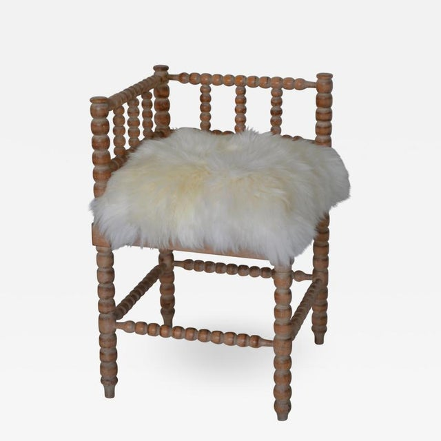 Turned Wood Corner Chair For Sale - Image 13 of 13