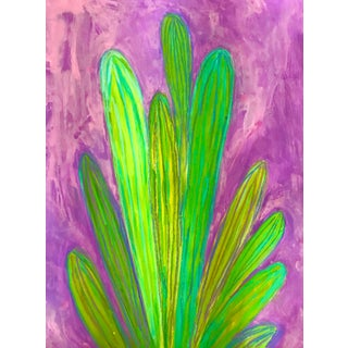 Modern Cactus Painting For Sale
