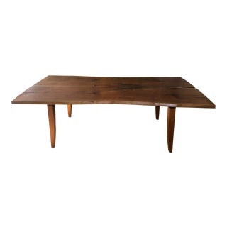 Scandinavian Modern Ralph Pucci Walnut Wood Dining Table For Sale