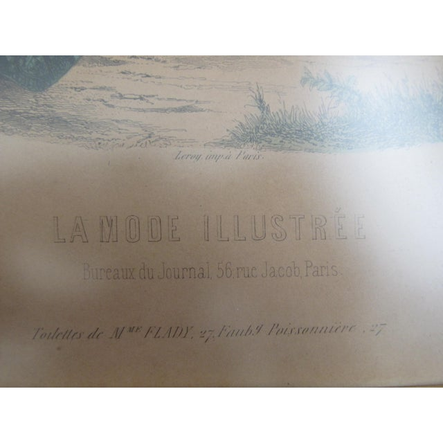Antique French Fashion Prints - A Pair - Image 7 of 8