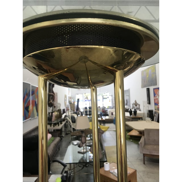 Metal 1980s Italian Brass Floor Lamp With Marble Base For Sale - Image 7 of 10