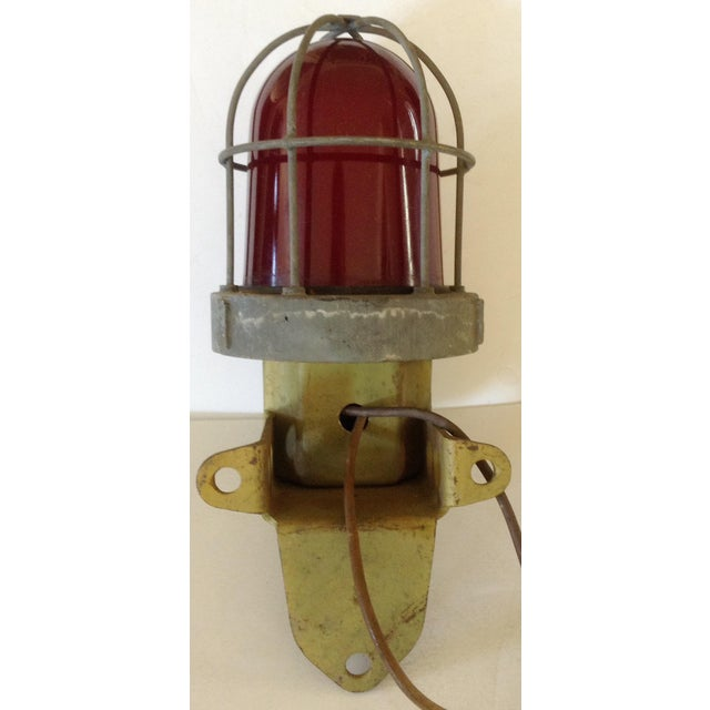 Industrial Wall Lamp For Sale - Image 4 of 5