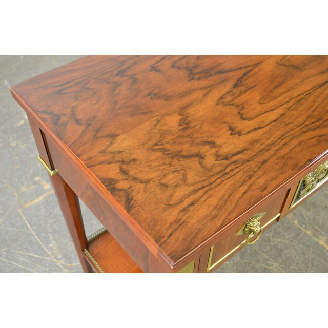 John Widdicomb Neo Classical Style Bronze Mount 1 Drawer Console Table For Sale - Image 12 of 13
