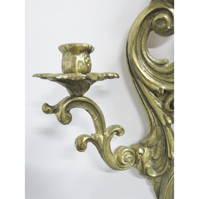 French French Style Brass Sconces - a Pair For Sale - Image 3 of 5