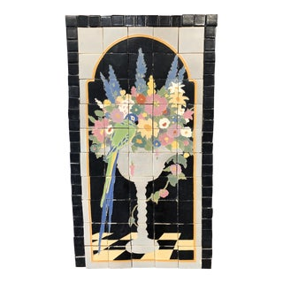 1920s Antique Claycraft Tile Company Mural For Sale