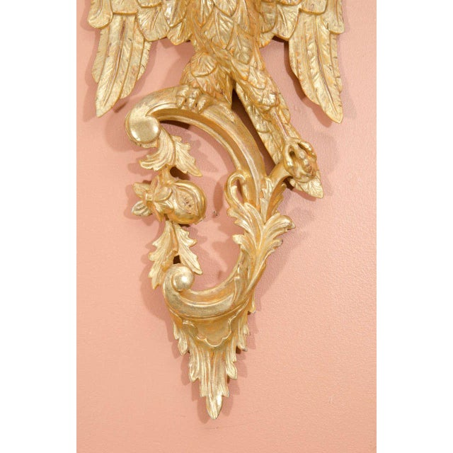 Pair of Rococo Giltwood Phoenix Brackets For Sale - Image 4 of 8