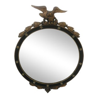 Mid 20th Century Eagle Topped Round Mirror For Sale