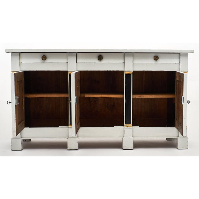 French Painted Directoire Style Buffet For Sale In Austin - Image 6 of 11