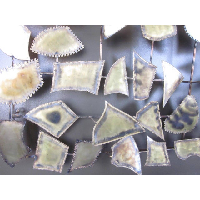 Brutalist Curtis Jere Attributed Monumental Brass Wall Sculpture For Sale - Image 3 of 7