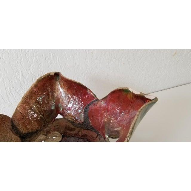 Ceramic Vintage Sculptural Art Pottery Vase . For Sale - Image 7 of 11