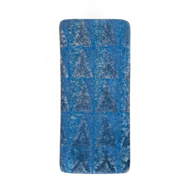 Blue 1960s Mid Century Italian Bitossi Ceramic Box For Sale - Image 8 of 11