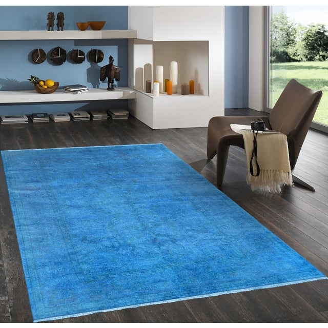 "Blue Over-Dyed Rug - 6'1"" X 8'11"" - Image 4 of 4"