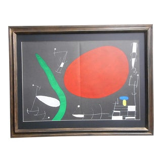 Vintage Large Mid 20th C. Ltd. Ed Lithograph-Joan Miro-Derriere Le Miroir-1967 For Sale