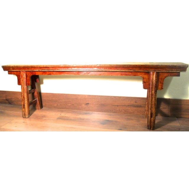 Antique Chinese Ming Long Bench - Image 2 of 10