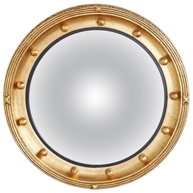 English Regency Style Round Convex Bullseye Mirror For Sale - Image 12 of 12