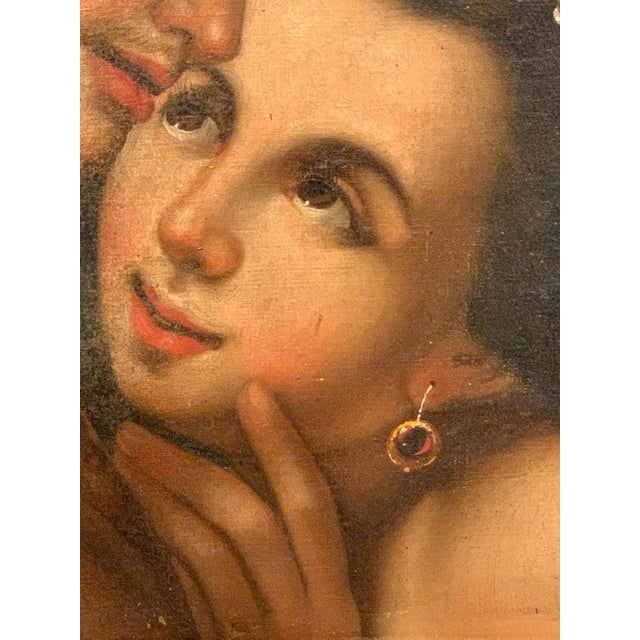 Gold Near Pair of Old Master Romantic Portraits For Sale - Image 8 of 10