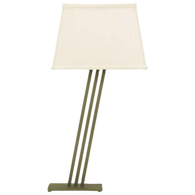 Postmodern Memphis-Style Angled Metal Table Lamp For Sale